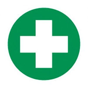 First Aid Helmet Sticker