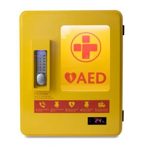Outdoor Heated AED Wall Cabinet