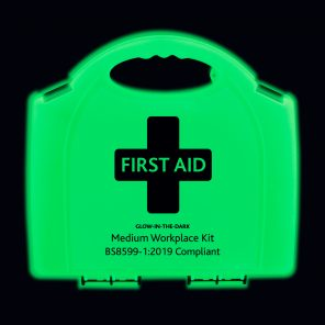 Glow in the dark BS8599-1:2019 first aid kit - small content
