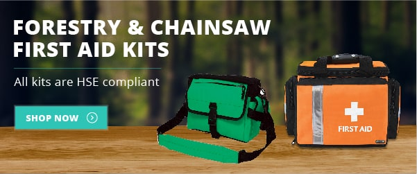 Forestry & Chainsaw First Aid Kits - All kits are HSE Compliant. Shop Now