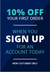 10% OFF YOUR FIRST ORDER - When you sign up for an account today New Customer Only