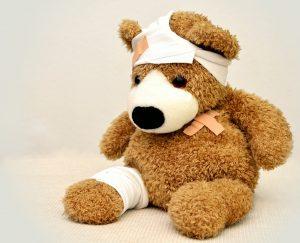 Poorly Bear School First Aid